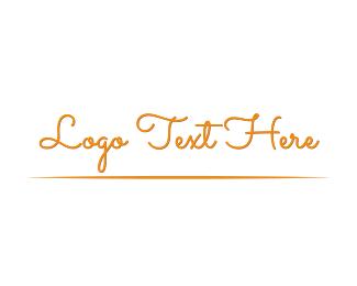 Signature - Vintage Script logo design