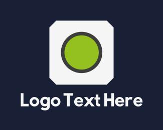 Lens - Green Lens logo design