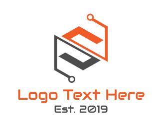 Computer Hardware - System Tech S logo design