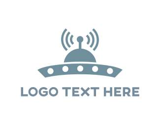 Extraterrestrial - UFO Signal logo design