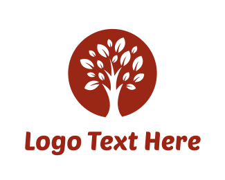 Tropical - Brown Tree logo design