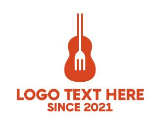 Rock Band - Guitar Fork logo design