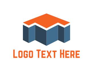 Blocks - Arrow Building logo design