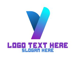 Shape - Gradient Y Shape logo design