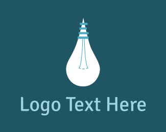 Spotlight - White Bulb Idea logo design