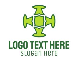 Cross - Green Cross logo design