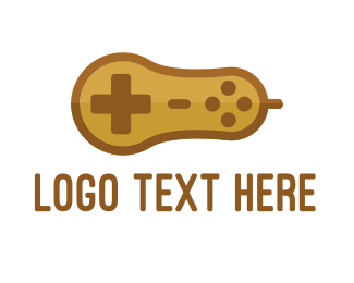 Joystick - Gaming Peanut logo design