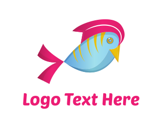 Fin - Fish Bird logo design