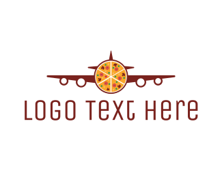 Pepperoni - Pizza Plane  logo design
