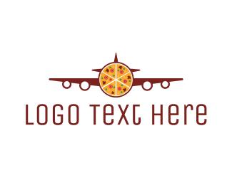 Pizza - Pizza Plane  logo design
