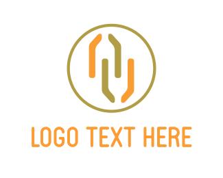 Biotech - Orange Chemistry logo design