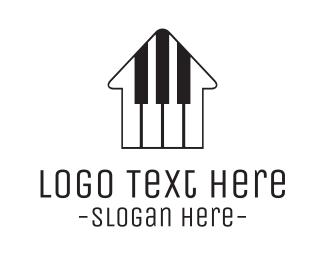 Keyboard - Piano House logo design