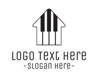 Keyboard - Piano House logo design