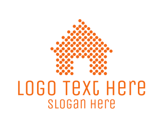Furniture - Orange Dots Home logo design