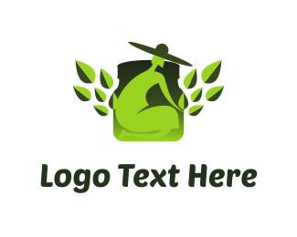 Herbal - Green Gardener logo design