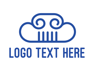 Ancient - Cloud Column logo design