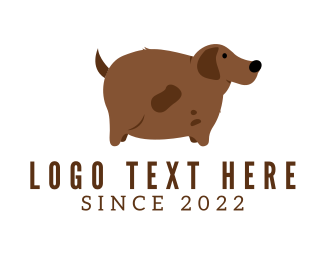 Fat - Brown Dog logo design