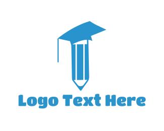 Academy - Pencil Graduation logo design