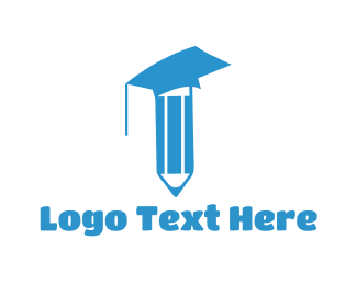 Graduate - Pencil Graduation logo design
