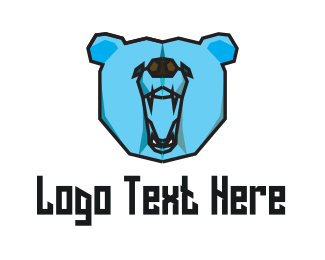 Fang - Wild Blue Bear logo design