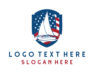Explorer - Patriotic Boat logo design