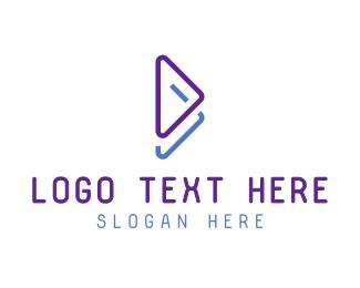 Download - Blue Violet Play Symbol logo design