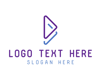 Logistics - Blue Violet Play Symbol logo design