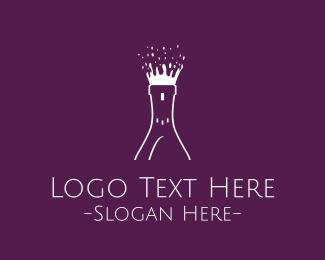Kingdom - Wine Burst logo design