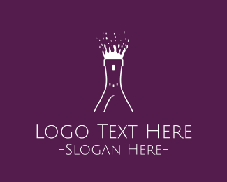 Champagne - Wine Burst logo design