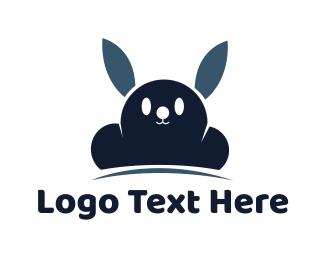 Rabbit -  Cloud Rabbit logo design