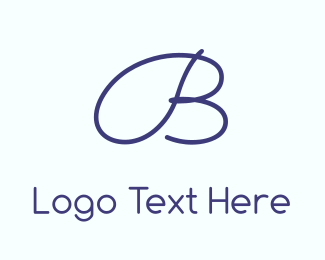 Handwritten - Blue  & Cursive logo design