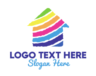 House Painter - Colorful House logo design