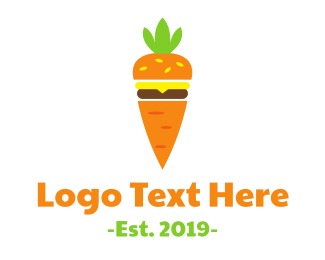 Burger - Carrot Burger logo design