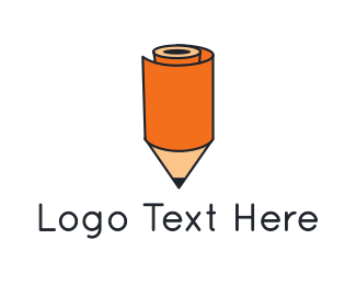 Draw - Pencil Roll logo design