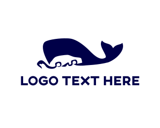 Sailing - Blue Whale Car logo design