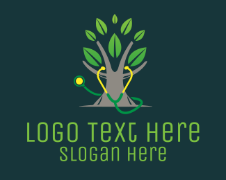 Stethoscope - Medical Tree logo design