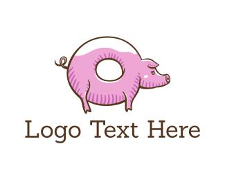 Doughnut - Donut Pig logo design