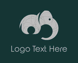 Safari - Grey Elephant  logo design