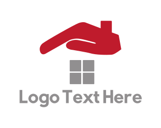 Roofing - Hand Roof logo design