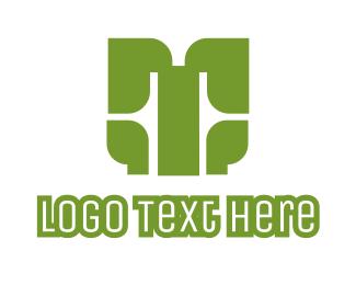 Team Emblem - Green T Axe logo design