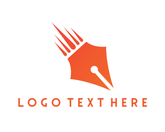 Meteorite - Pen Meteor  logo design
