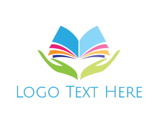 Reading - Colorful Reader logo design