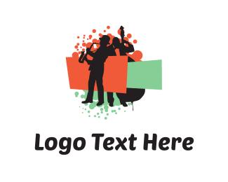Station - Color Musicians logo design