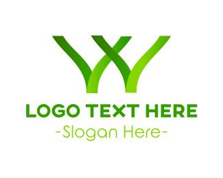 Letter W - Green Letter W logo design
