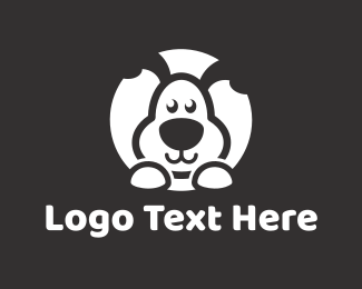 Pet Sitting - Cute Puppy logo design