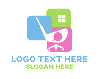 Chair - Golf Office logo design