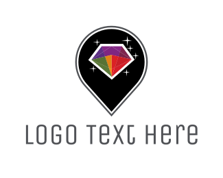 Location - Colorful Diamond logo design