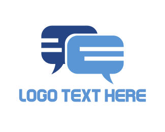 Speech - Blue Chat logo design