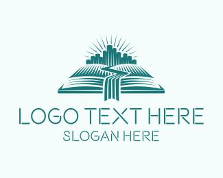 Author - River City Book logo design
