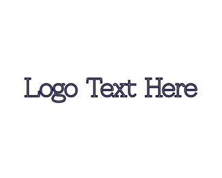 Old - Blue Typeface logo design